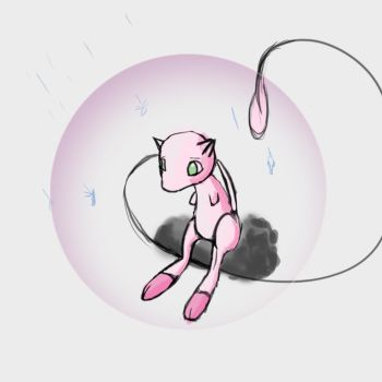 Mew in the Rain... by Rhino0