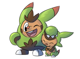 Chespin and Quilladin by LeniProduction