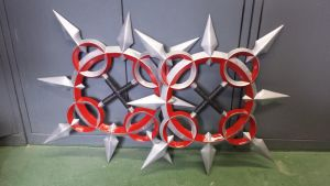 kingdom hearts: Axel's Chakrams Finished Pair by RPG-Creations