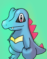 Totodile by NeverWastedTime