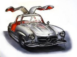 Mercedes 300SL by Celia-H