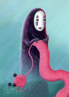 Noface Knitting by Cinder-Cat