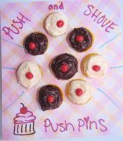 8 Cupcake PushPins-Thumbtacks by MotherMayIjewelry