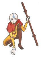 Avatar - Aang by blackbirdrose