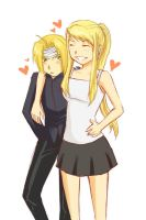 ed and winry by risaaa