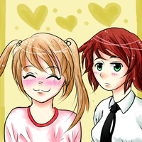 Emi and Rin by AlyOssan