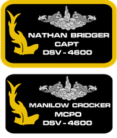 seaQuest DSV Revised Crew Uniform Nameplates by viperaviator