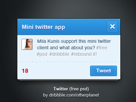 Mini twitter psd (fpew) by OtherPlanet