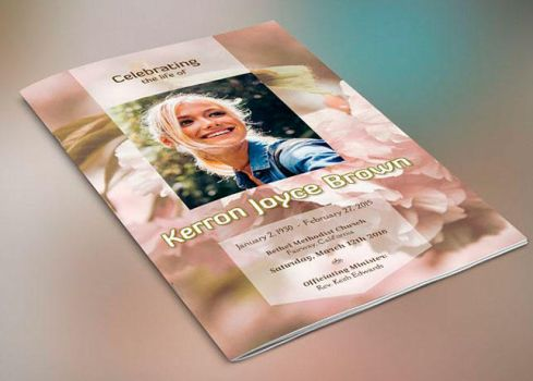 Adventure Small Funeral Program Template by Godserv