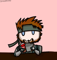 Solid Snake loves Pocky by Excalibur-chan