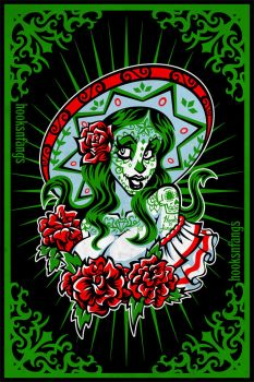 Sugar Skull Girl - Gloria by hooksnfangs