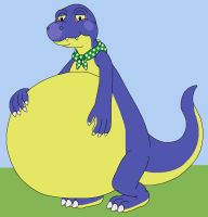 Wily the Fat Komodo by MCsaurus