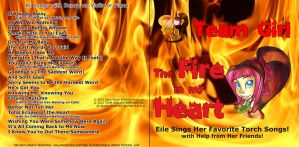 Team Girl Fire in my Heart CD Cover by TeamGirl-Differel