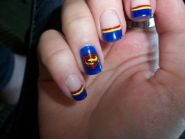 Superman Nails by QueenAliceOfAwesome