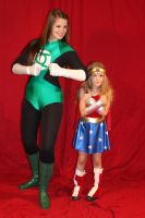 Green Lantern and Wonderwoman by icantthinkofaname-09