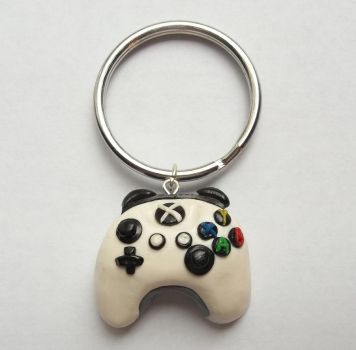 Xbox Gamer Controller Key Chain- Polymer Clay by CraftMuse