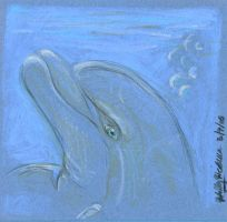 Cardstock Dolphin by autumnalangel