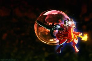 Pokeball of Mewtwo Omega by Jonathanjo