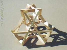 Truncated Tetrahedron woven by RNDmodels