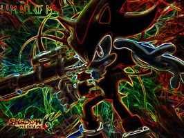 Shadow the Hedgehog (Glow) by SondowverDarKRose