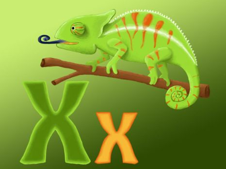 chameleon and letter by AtmaCat