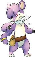 Fighting stance Rattata by Gatodae