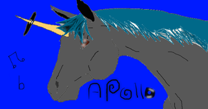 Apollo the dubstep unicorn by shastamoon123