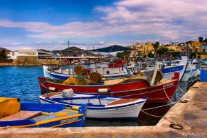 Fishing Boats in Harbour by BillyNikoll