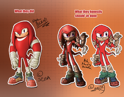 Knux- Redesign by BlazingStarO