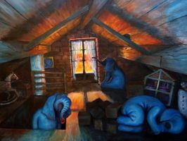 Blue Elephants In The Attic by NingerGinjaaahh