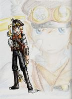 Steampunk Roxas by LordCavendish