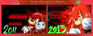 KNUX :BeforeAfter: by andreahedgehog