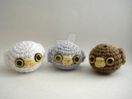 Baby Owls by MoonYen