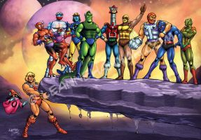 Masters of the Universe Gang by stratosmacca