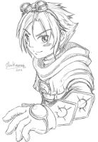 Ezreal LoL Sketch by ClowKusanagi