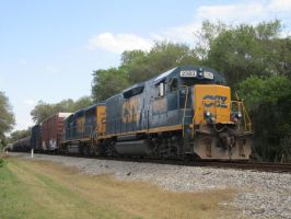 CSX #2383 EMD GP39-2 Clearwater FL 12th March '12 by Somewhere1Belong
