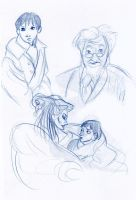 Misc Narnia sketches by MagykDisneyRide
