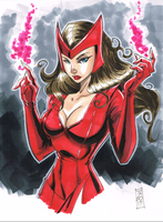 Avenger A Day No 2: Scarlet Witch by Hodges-Art