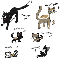 Cat Breedables #3 Litter1 by AerithsAdopts