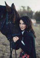 A Girl with A Horse by iilva