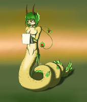 Painting Snake by Silena-Chaos