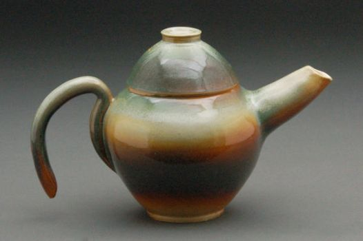 faded tea pot by cl2007