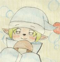 Harvest Moon - Thank you for the Mushroom! by FloDoodling