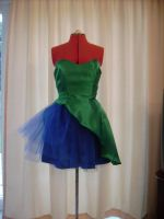 Kyla's Peacock Dress - Front by happyhippybassist