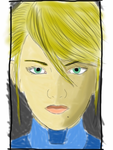 Samus Aran (Zero Suit in Sketchbook Pro App) by Tigrissa18