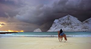 Riding on the beach by steinliland
