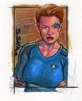 7 of 9 Sketch Card Commission by ssava