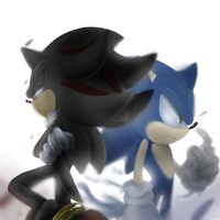 Shadow and Sonic by Unichrome-uni