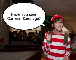 Waldo seeking Carmen by fotaku