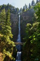 Multnomah Falls by Moohoodles